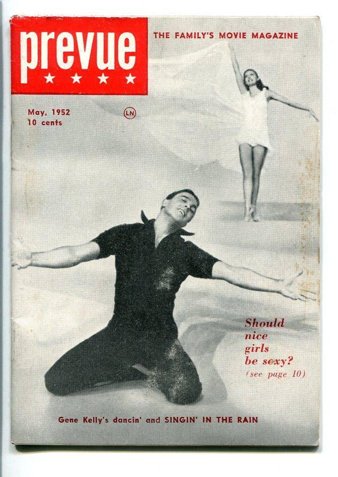 PREVUE #1 05/1952-1ST ISSUE-MOVIES-GENE KELLY-BRANDO-SOUTHERN STATES-vf   [As New]