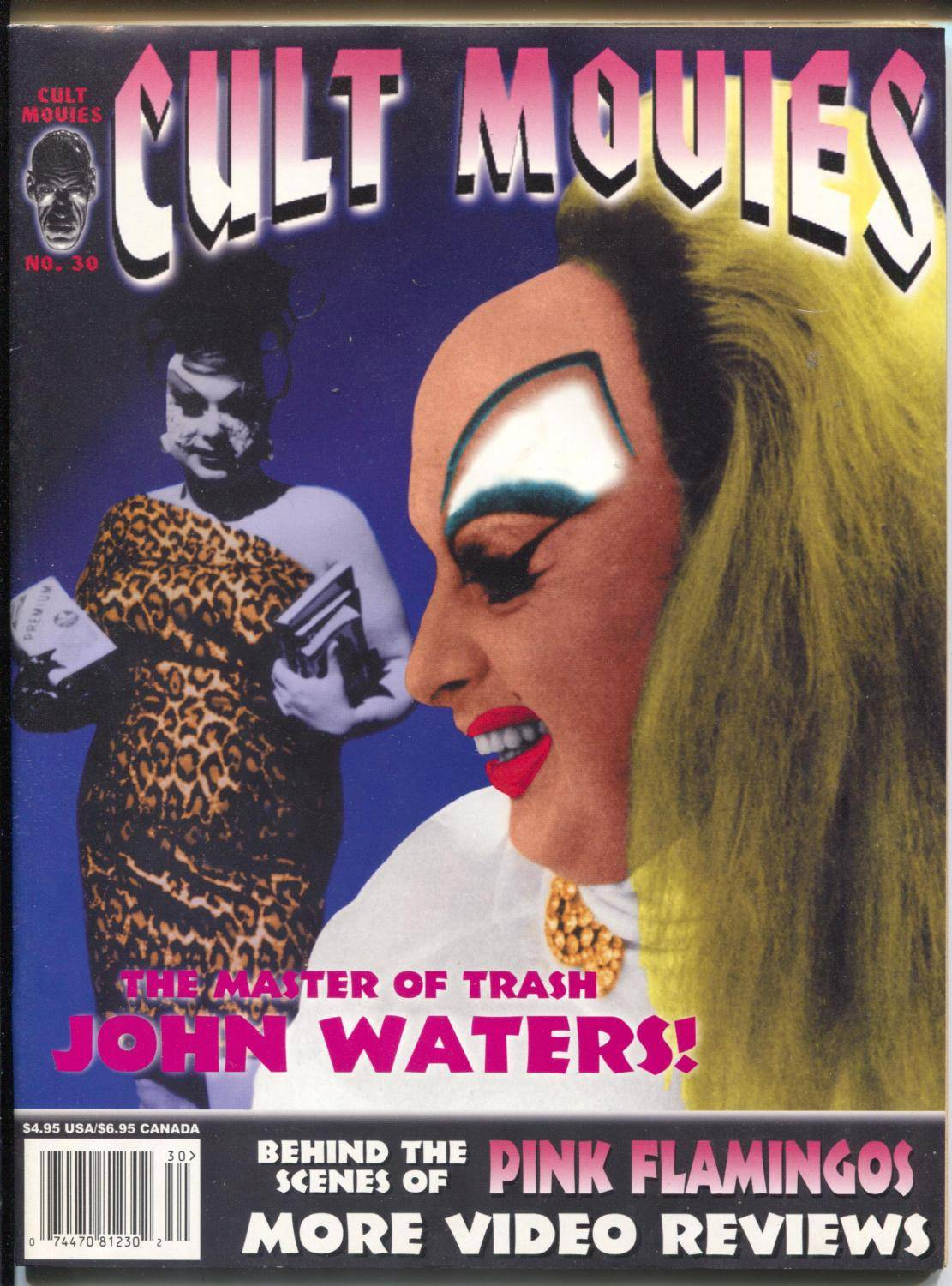 Cult Movies #30 1999-John Waters-Pink Flamingos-weird horror films-VF   [As New]