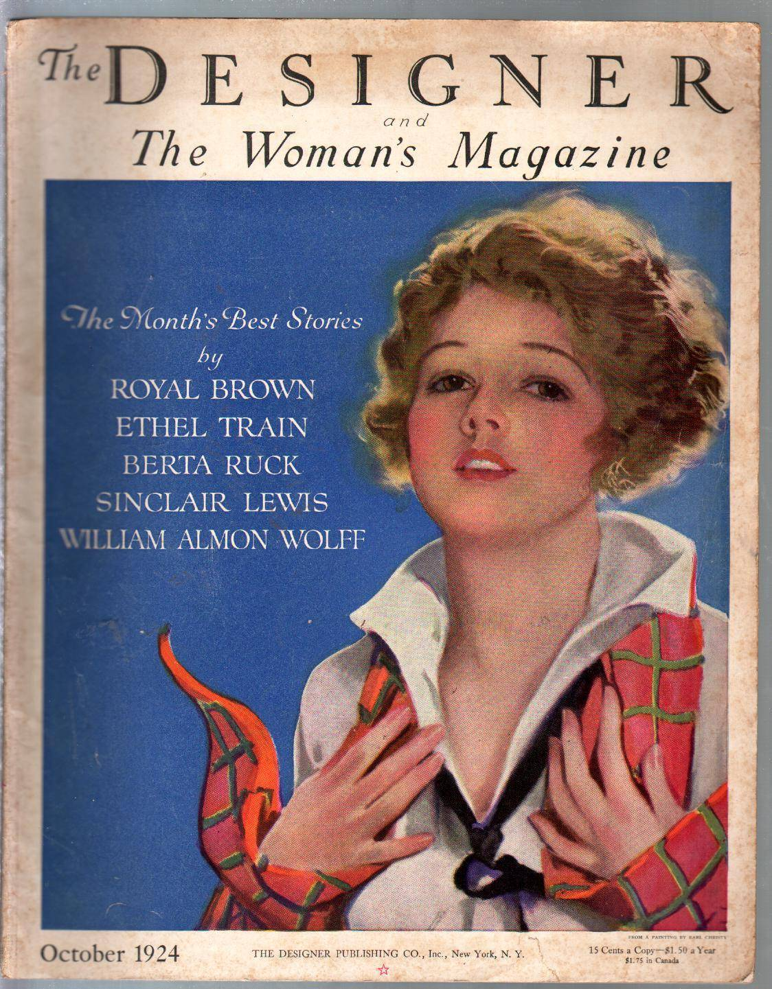 Designer & Woman's Magazine 10/1924-fashion-accessories-pulp=VG   [Very Good]
