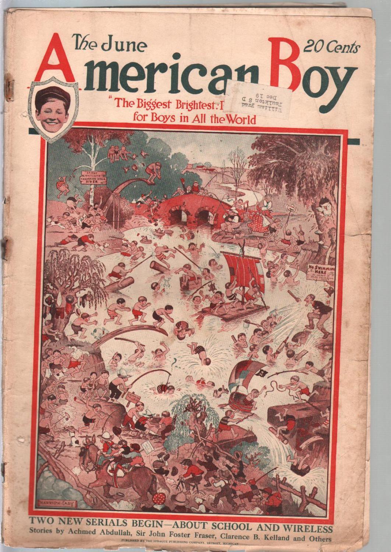 American Boy 6/1919-Harrison Cady cover-adventure-pulp fiction-bike ads-FR   [Fair]