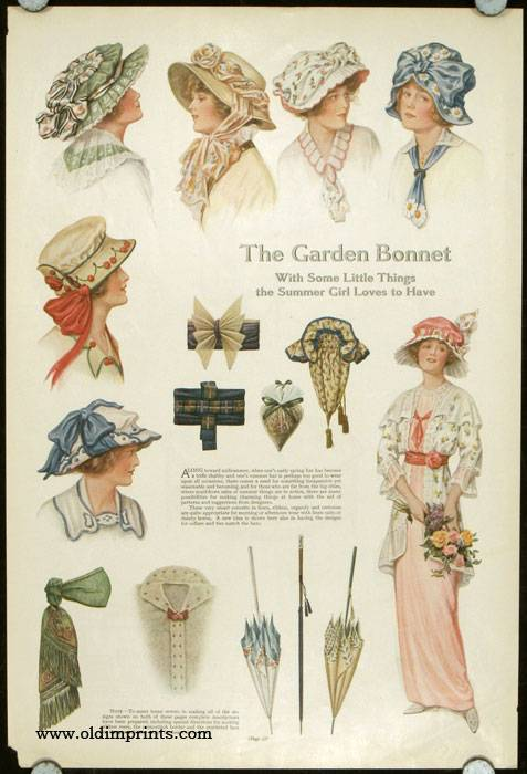 The Garden Bonnet With Some Little Things the Summer Girl Loves to Have. 1910s FASHION - HATS) [ ] [Softcover]