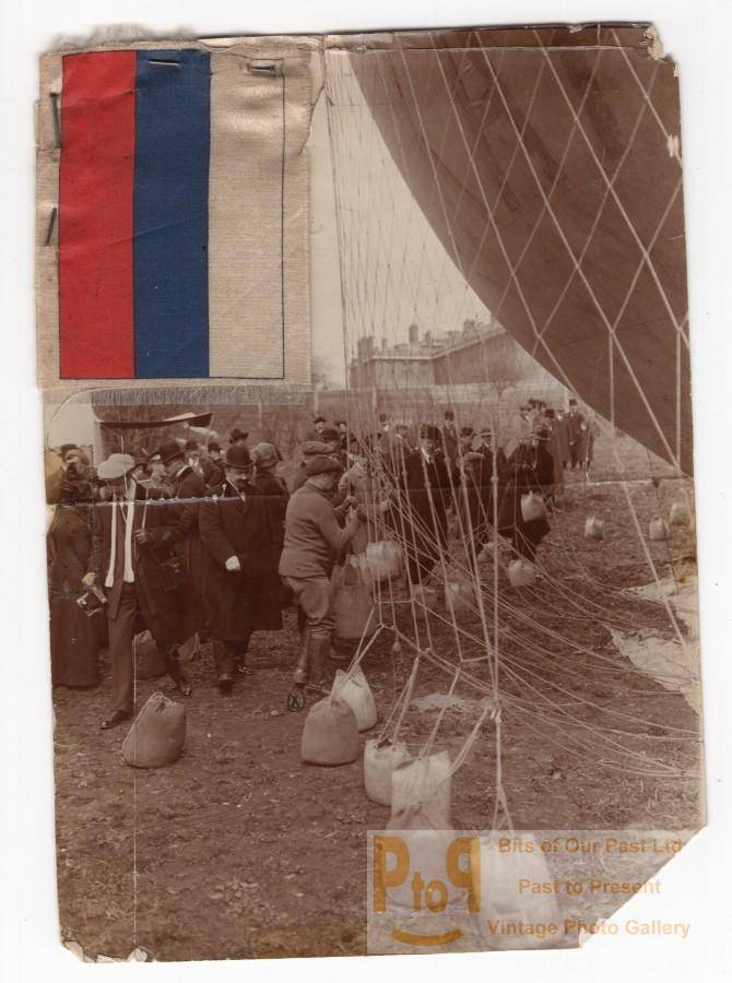 Moscow Balloon Flight Aeronaut Charles Gilbert Panorama Old Photo 9 May 1912   [ ]