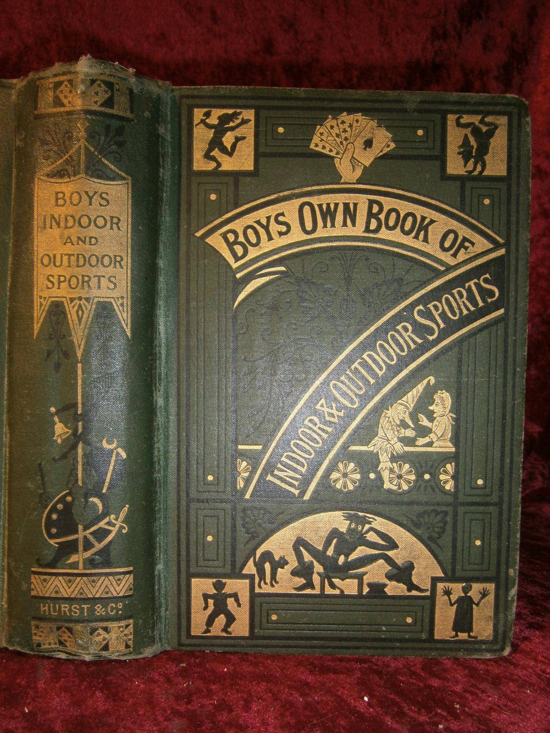 BOYS OWN BOOK OF INDOOR & OUTDOOR SPORTS ( 1878 & Vers 1885 ) MASTER A. / Prof . BLITZ / Uncle JOHN [Near Fine] [Hardcover]
