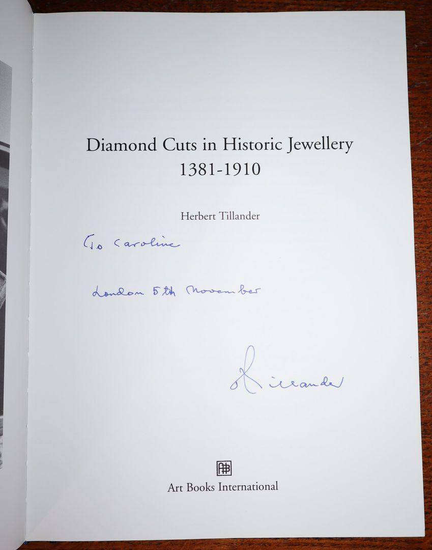 Diamond Cuts in Historic Jewellery, 1381-1910 [First Edition in Slipcase, SIGNED by the Author] Herbert Tillander [Very Good] [Hardcover]