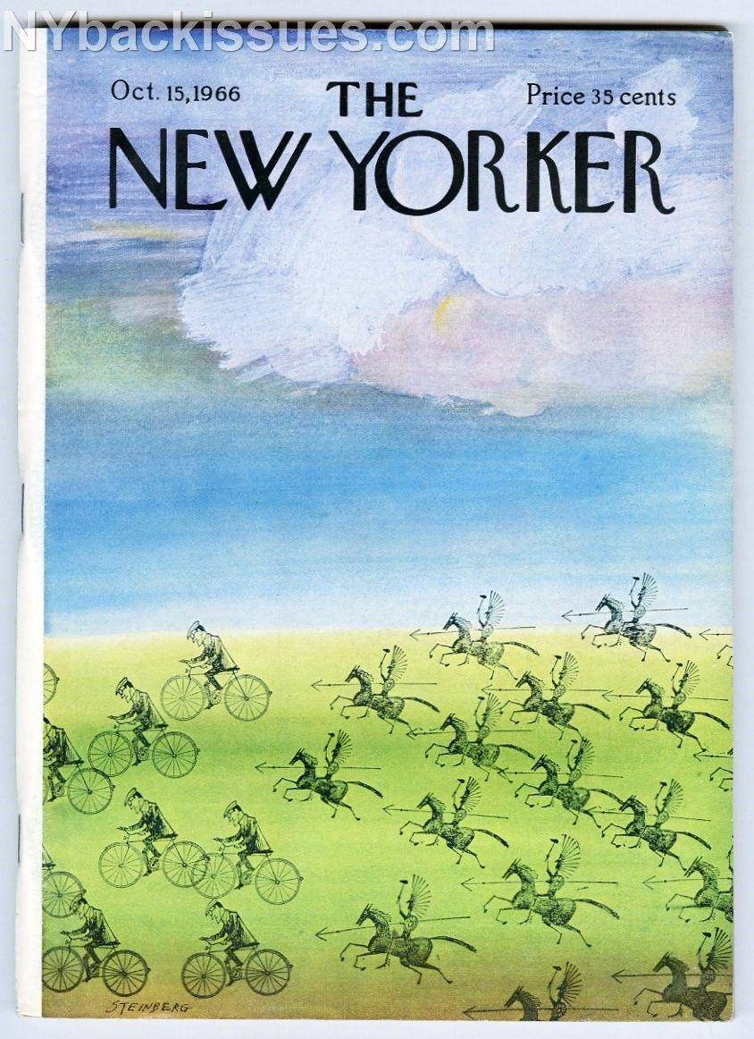 New Yorker magazine October 15 1966 Saul Steinberg Indian bike cov NEAR MINT   [As New] [Softcover]