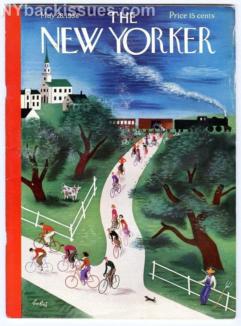 New Yorker magazine May 28 1938 train country bike bicycle tour Bobri VGF   [ ] [Hardcover]