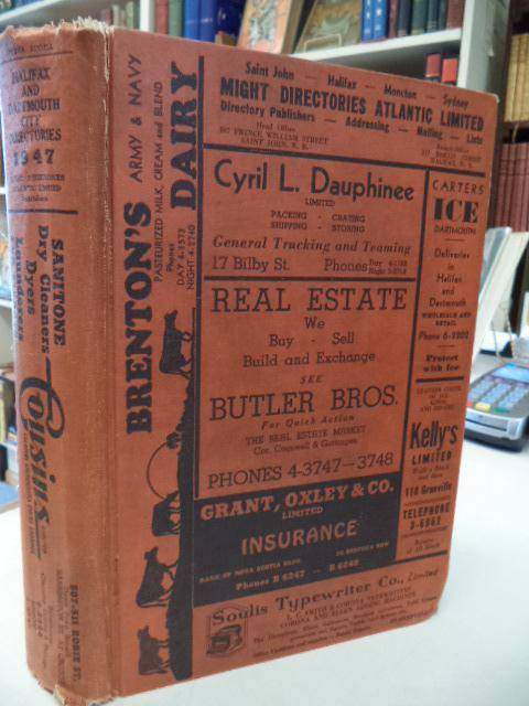 1947 Halifax - Dartmouth City Directories with 'Phone List. Volume LXXIX [79] Might Directories Atlantic [Good] [Hardcover]