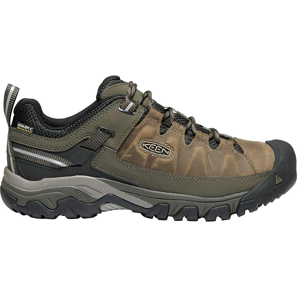 KEEN Men's Targhee 3 Rugged Low Height Waterproof Hiking Shoes - 13 - Bungee Cord / Black