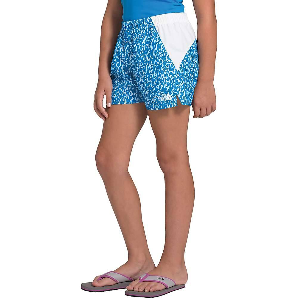 The North Face Girls' Class V Water 3 Inch Short - Large - Clear Lake Blue Flashito Print