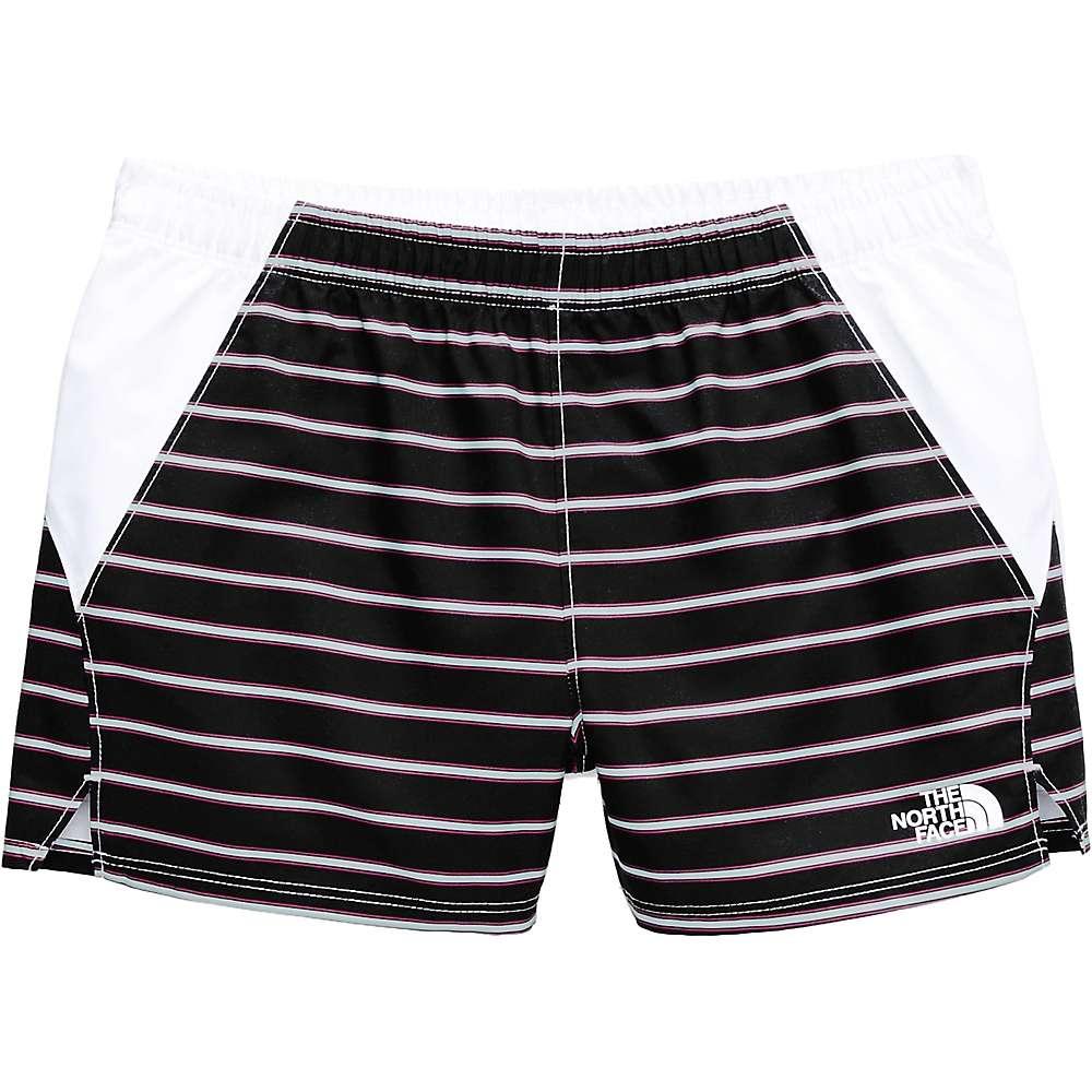The North Face Girls' Class V Water 3 Inch Short - Medium - TNF Black Stripe Print