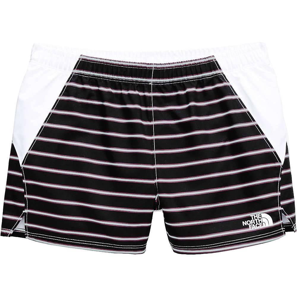The North Face Girls' Class V Water 3 Inch Short - Small - TNF Black Stripe Print