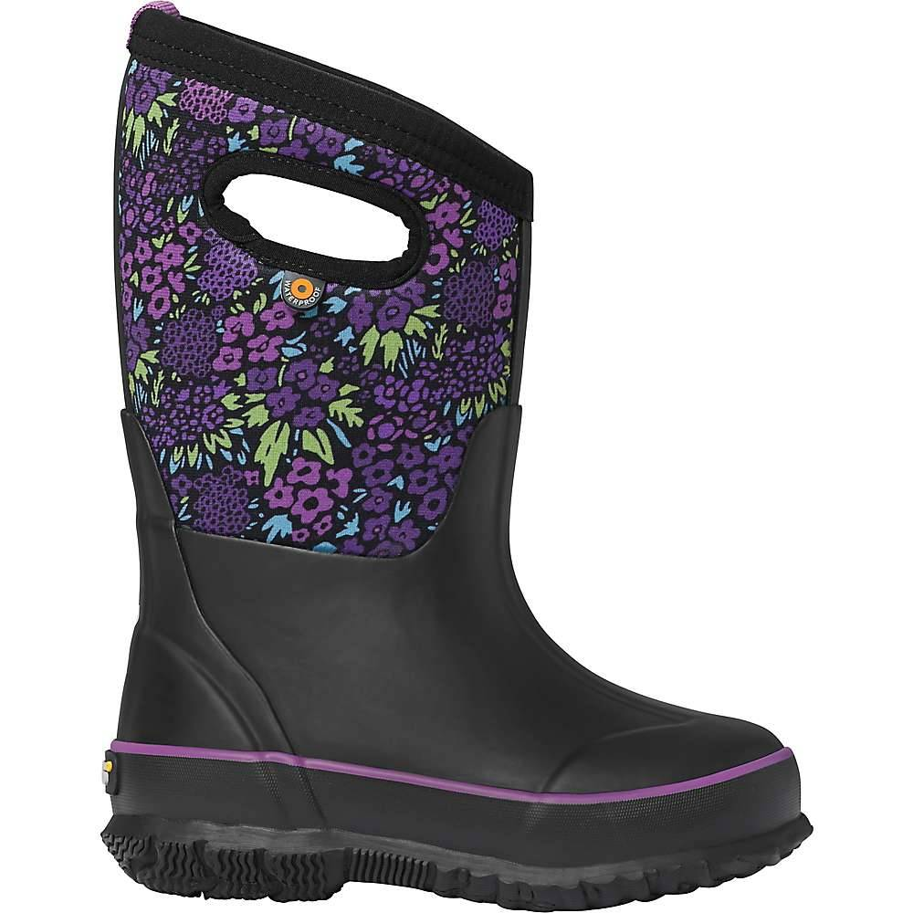 Bogs Youth Classic Big NW Garden Boot - 3 - Black Multi