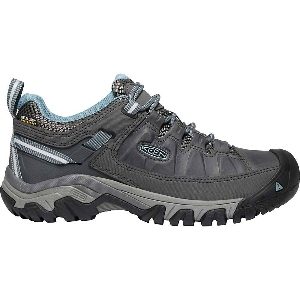 KEEN Women's Targhee 3 Rugged Low Height Waterproof Hiking Shoes - 9.5 - Magnet / Smoke Blue