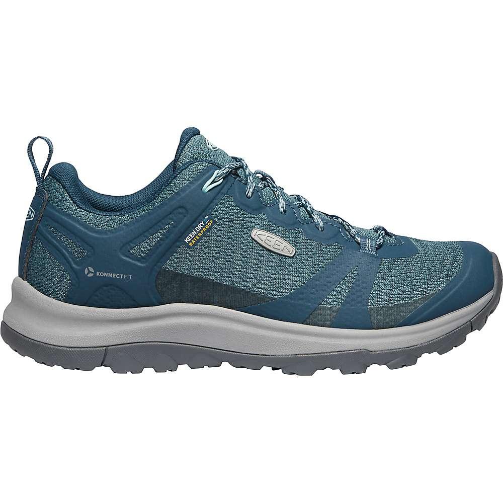 KEEN Women's Terradora 2 Low Height Waterproof Hiking Shoes - 7 - Tapestry / Blue Glow