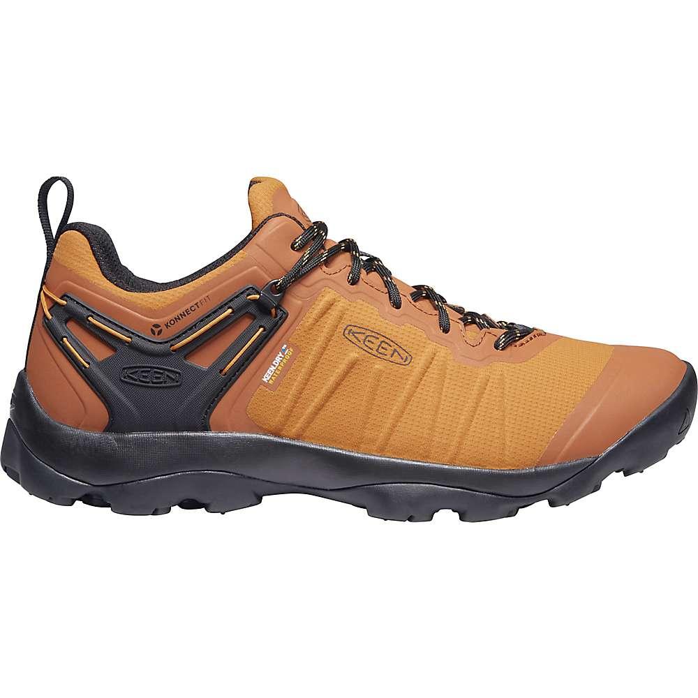 KEEN Men's Venture Contoured Waterproof Hiking Shoes - 8.5 - Pumpkin Spice / Black