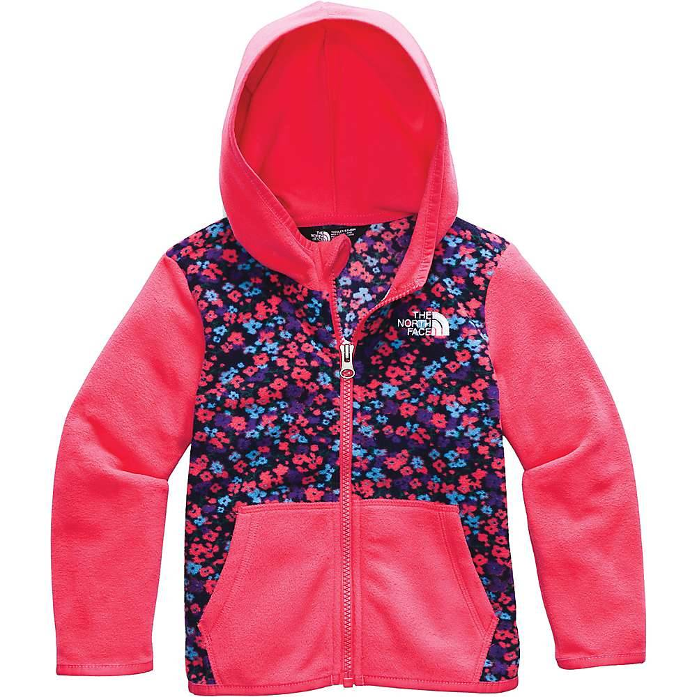 The North Face Toddlers' Glacier Full Zip Hoodie - 3T - Paradise Pink Wildflower Print