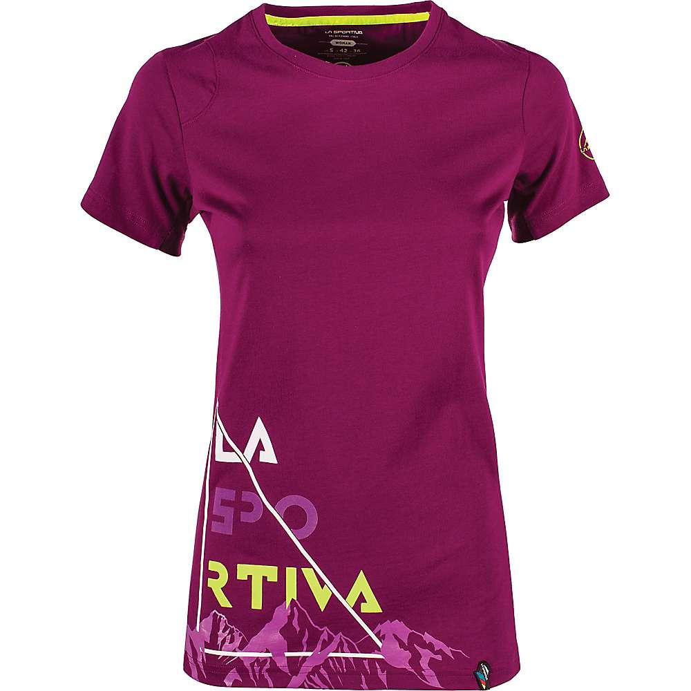 La Sportiva Women's Mountain Is Home T-Shirt - Large - Plum
