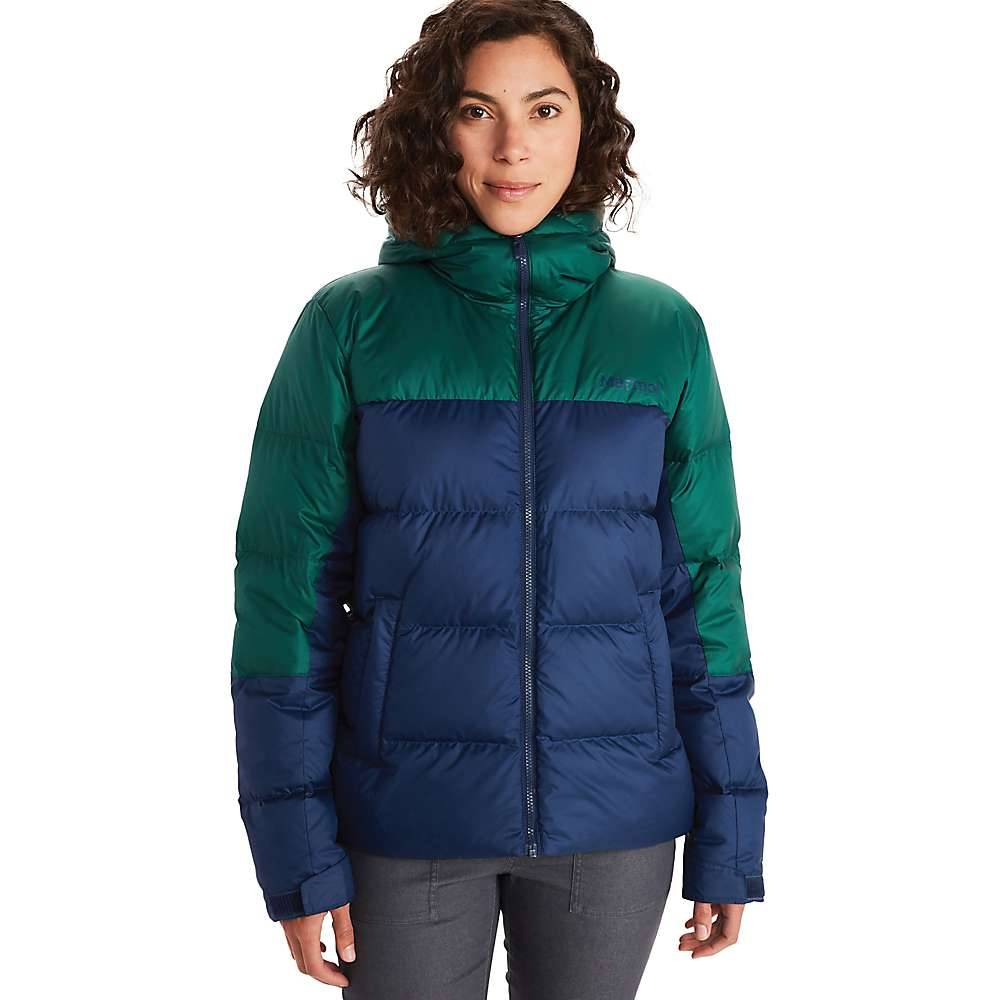Marmot Women's Guides Down Hoody - Small - Arctic Navy / Botanical Garden