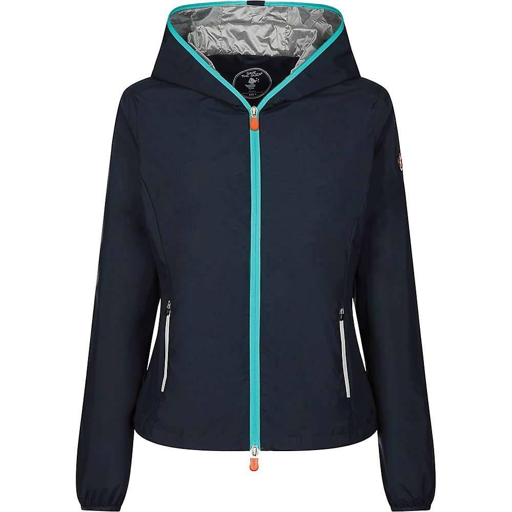Save The Duck OCEAN IS MY HOME Womens Graphic Hoodie - 1-S - Blue Black