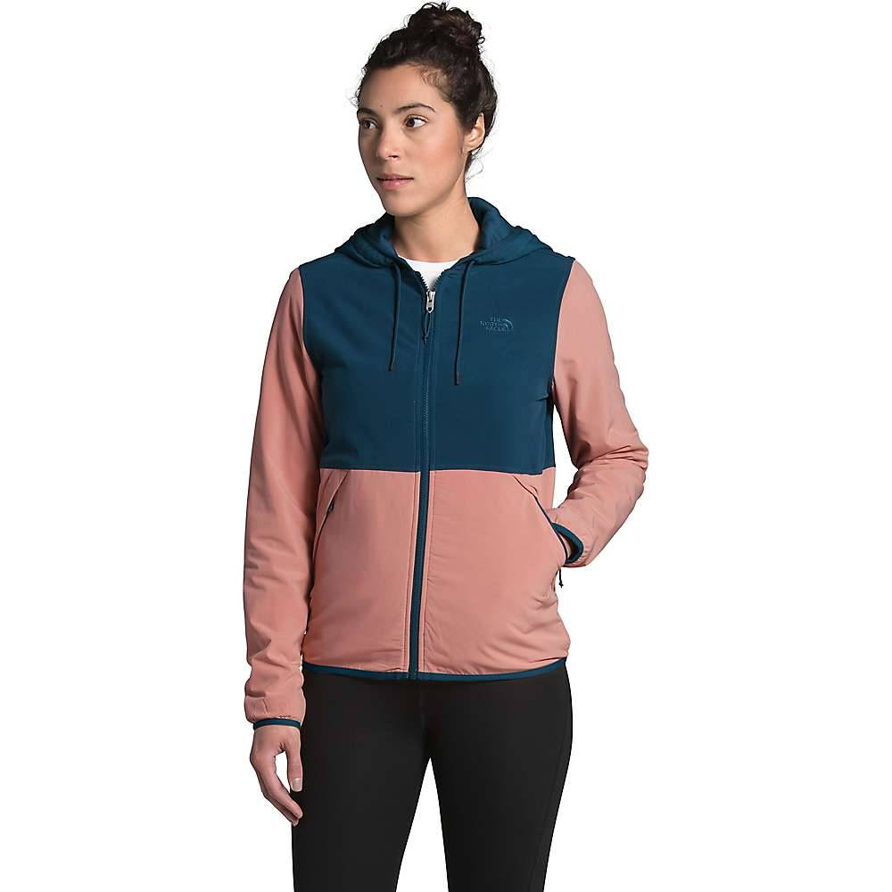 The North Face Women's Mountain Sweatshirt Hoodie 3.0 - XL - Blue Wing Teal / Pink Clay