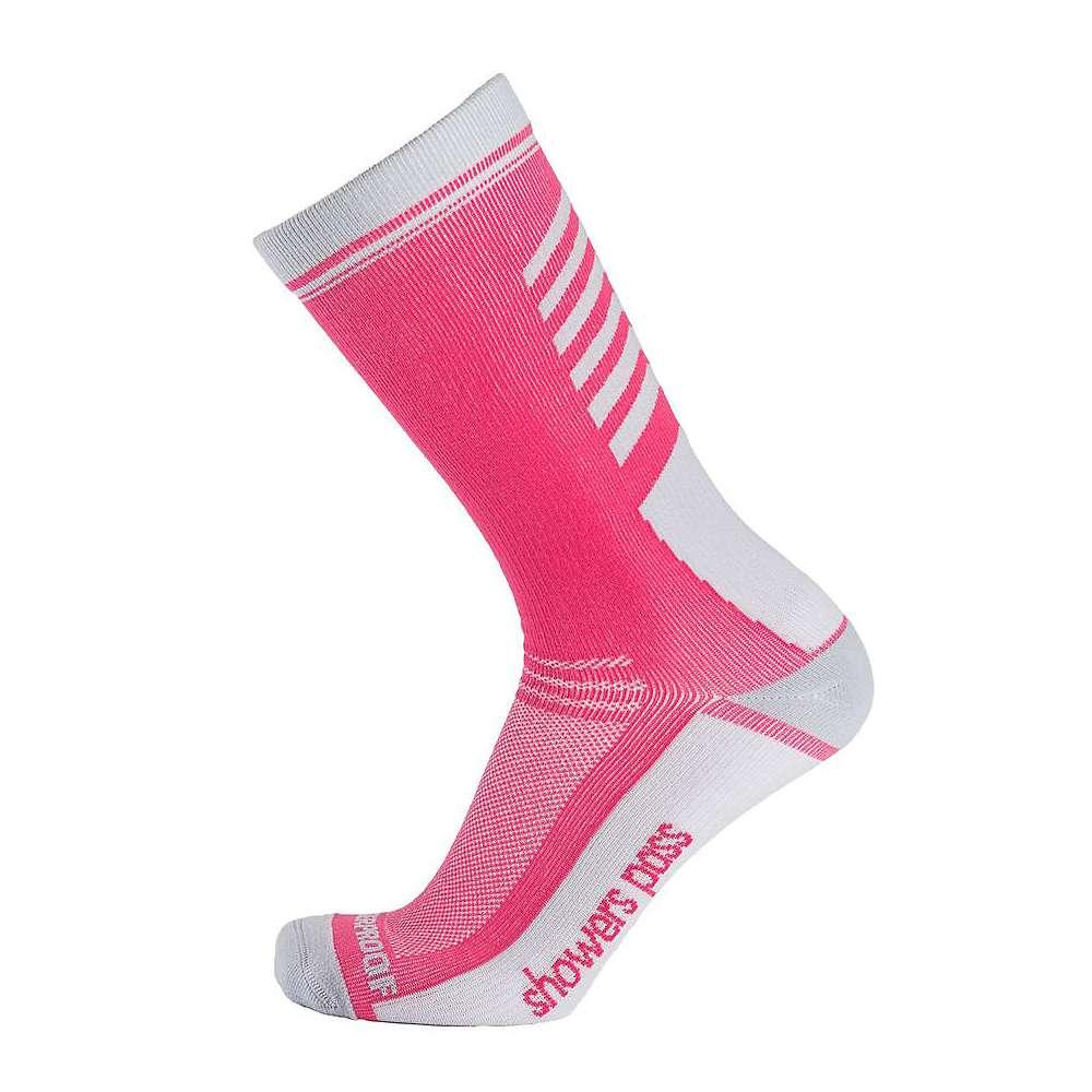 Showers Pass Crosspoint Lightweight Waterproof Crew Sock - M/L - Pink