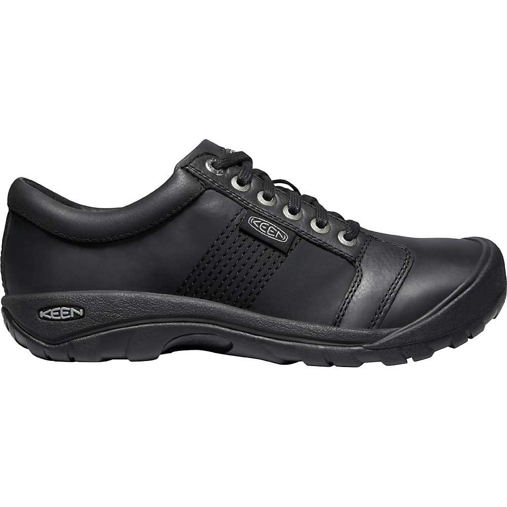 KEEN Men's Austin Leather Casual Walking Shoes - 10.5 - Black