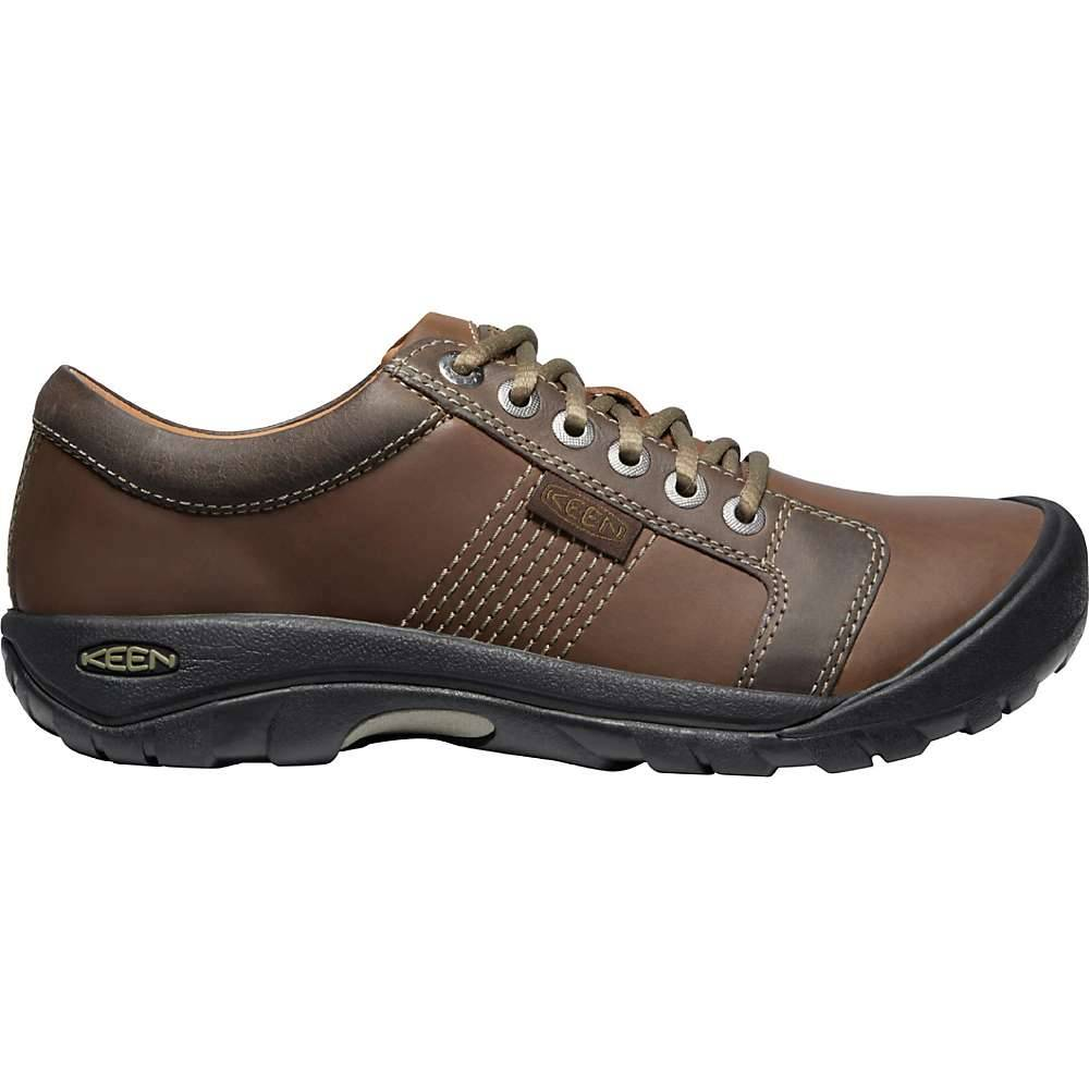 KEEN Men's Austin Leather Casual Walking Shoes - 8.5 - Chocolate Brown