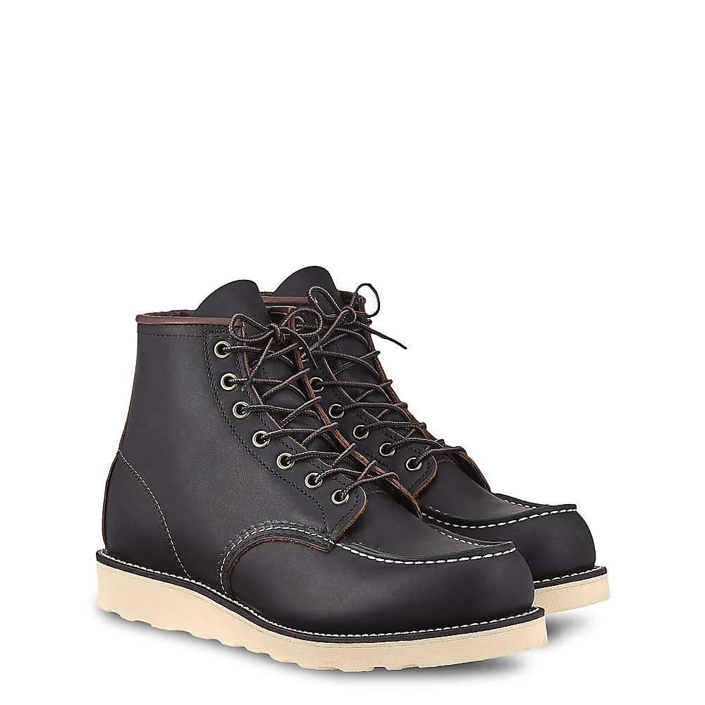 Red Wing Shoes Red Wing Heritage Men's 6 Inch Classic Moc Boot - 9 - Black Prairie