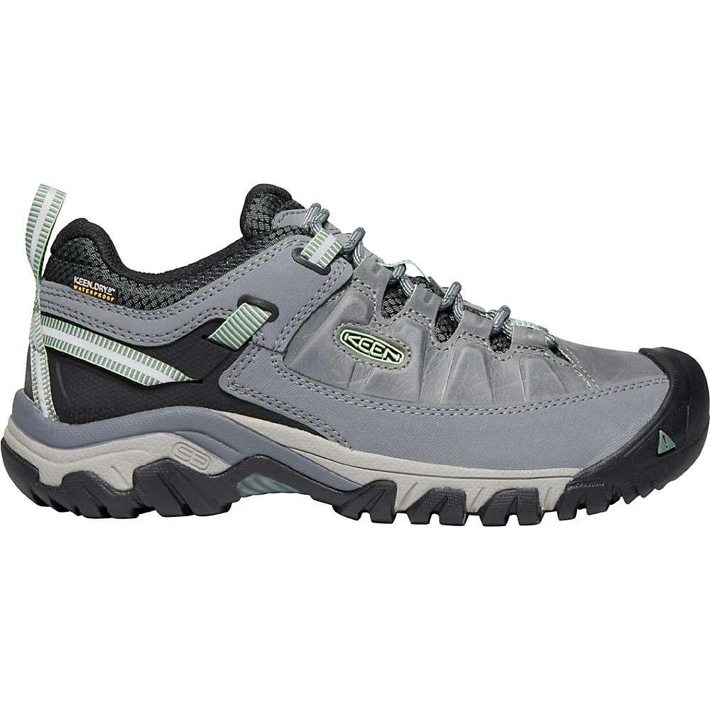 KEEN Women's Targhee 3 Rugged Low Height Waterproof Hiking Shoes - 6 - Bleacher / Duck Green