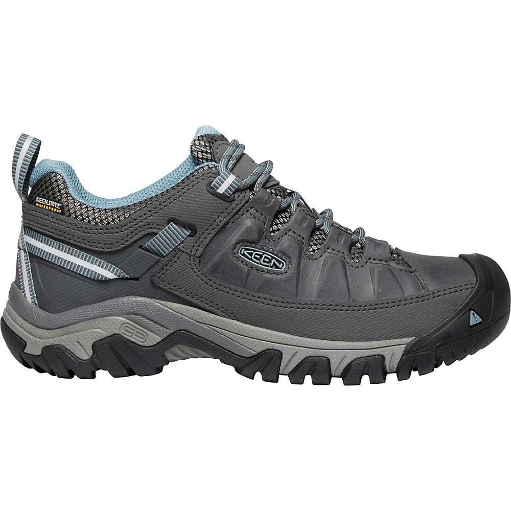 KEEN Women's Targhee 3 Rugged Low Height Waterproof Hiking Shoes - 6 - Magnet / Smoke Blue