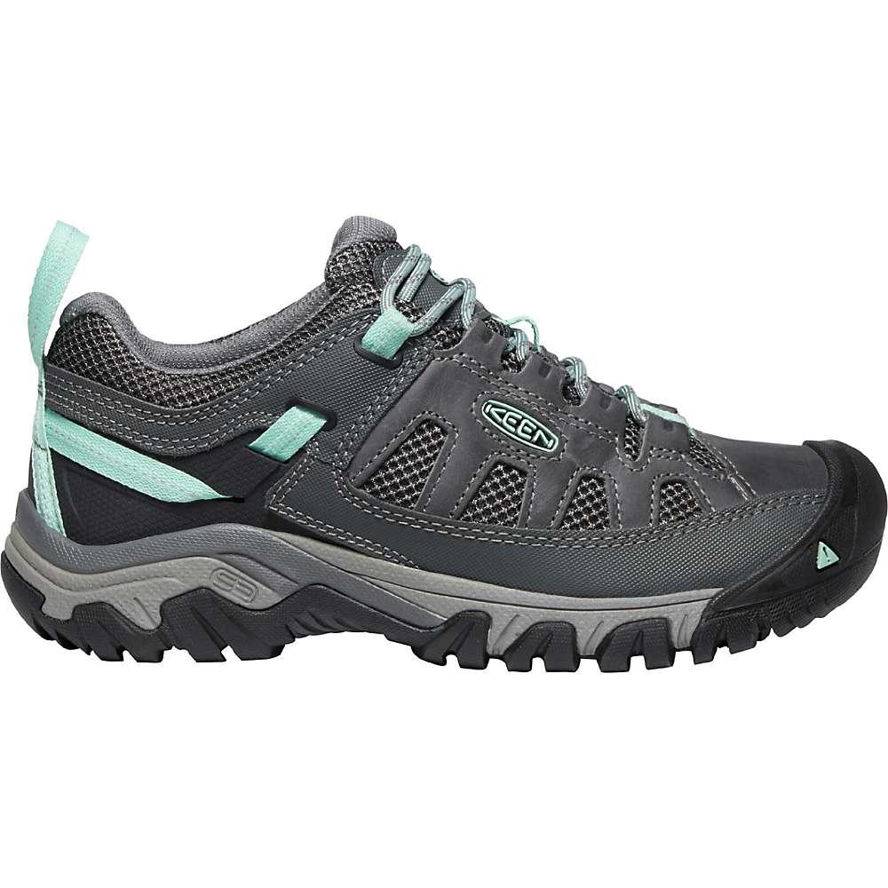KEEN Women's Targhee Vent Breathable Low Height Hiking Shoes - 5 - Steel Grey / Ocean Wave