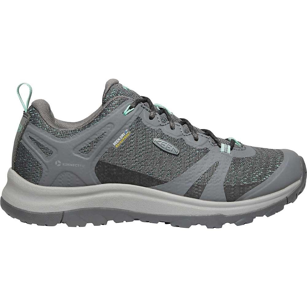 KEEN Women's Terradora 2 Low Height Waterproof Hiking Shoes - 6 - Steel Grey / Ocean Wave