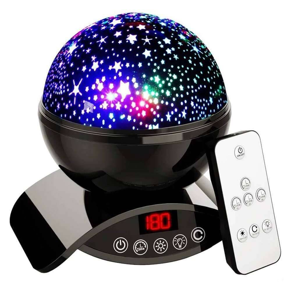 Elecstars Store Star Projector Night Light Black Ceiling Starry Sky with Timer Remote And Chargeable