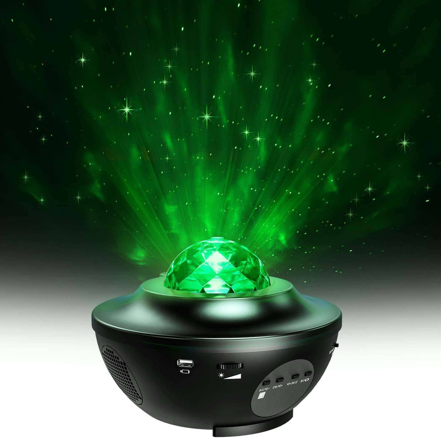 Elecstars Store Ocean Wave Baby Night Light Projector with Music for Bedroom Nighttime Sleep Aid