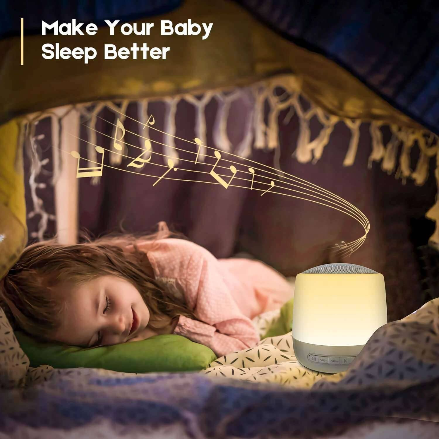 Elecstars Store Baby Rest Sound Machine With Lights White Noise Machine Touch Control Mood for Sleeping