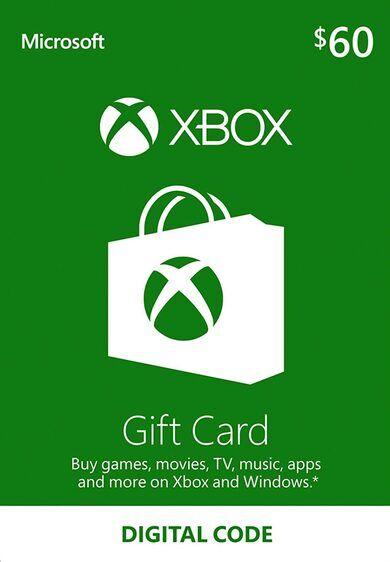 Microsoft Xbox Live Gift Card 60 USD Xbox Live Key UNITED STATES