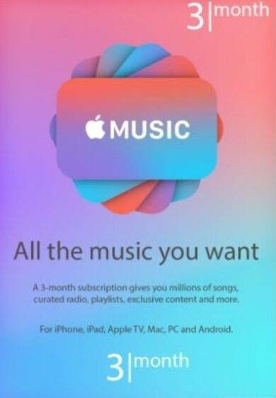 Apple Music Subscription 3 months Key UNITED STATES