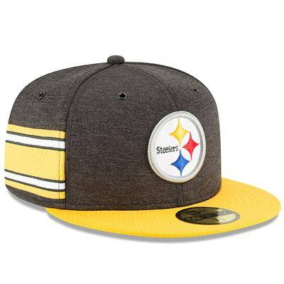 New Era Pittsburgh Steelers New Era 2018 NFL Sideline Home Official 59FIFTY Fitted Hat - Black/Gold