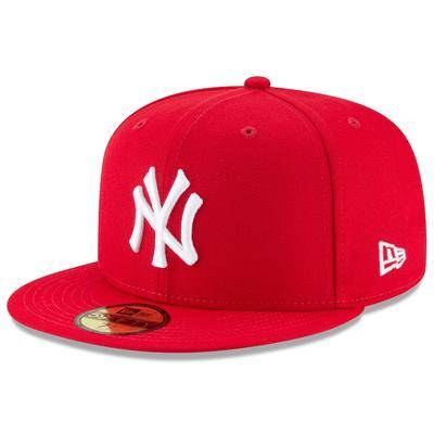 New Era New York Yankees Era Fashion Color Basic 59FIFTY Fitted Hat - Scarlet