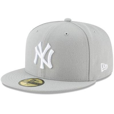 New Era New York Yankees Era Fashion Color Basic 59FIFTY Fitted Hat - Gray