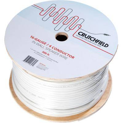 Crutchfield 16 Gauge In-Wall 4 Conductor Wire, 500 Foot Roll