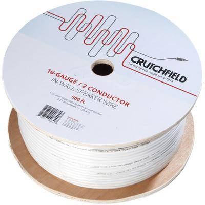 Crutchfield 16 Gauge In-Wall 2 Conductor Wire, 500 Foot Roll