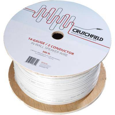 Crutchfield 14 Gauge In-Wall 2 Conductor Wire, 500 Foot Roll