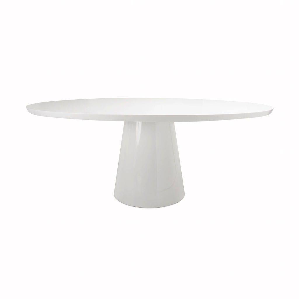 Worlds Away Jefferson White Oval Dining Table by Worlds Away
