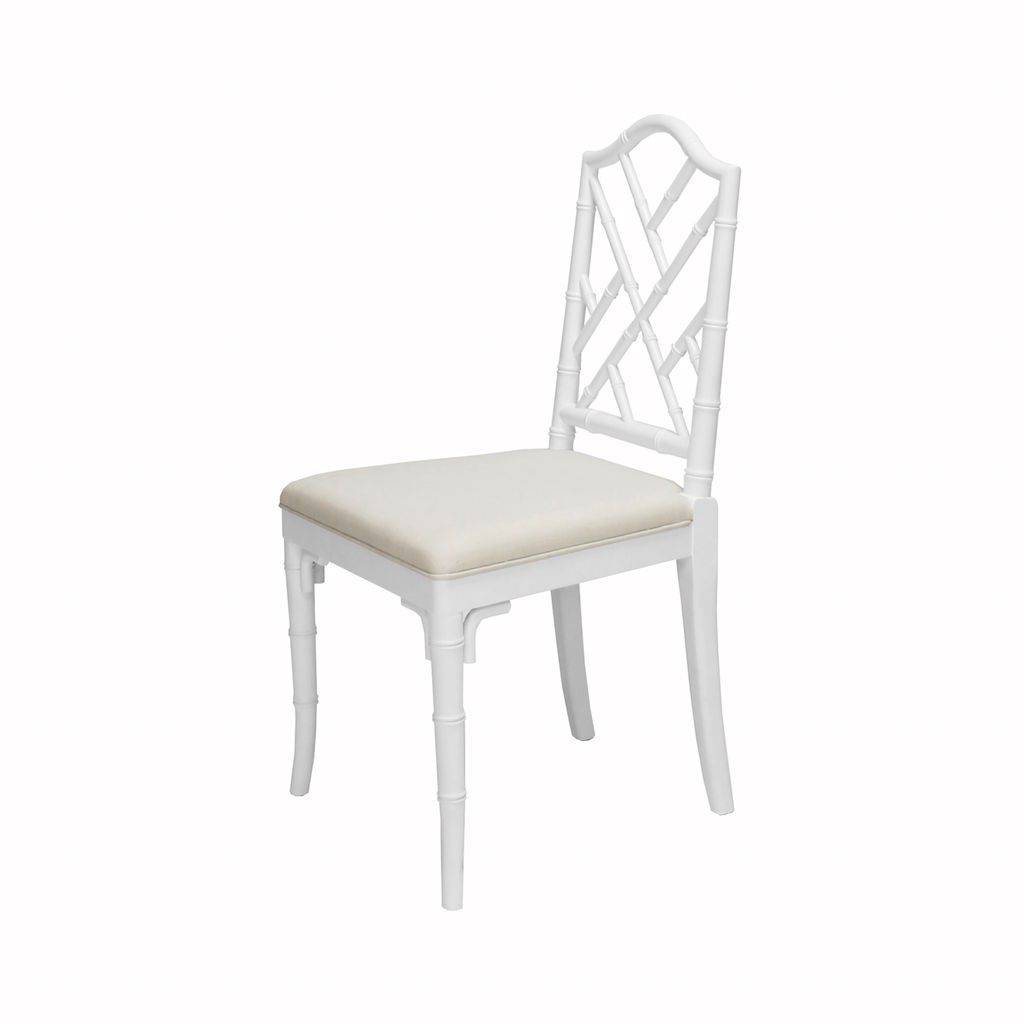 Worlds Away Fairfield White Dining Chair by Worlds Away