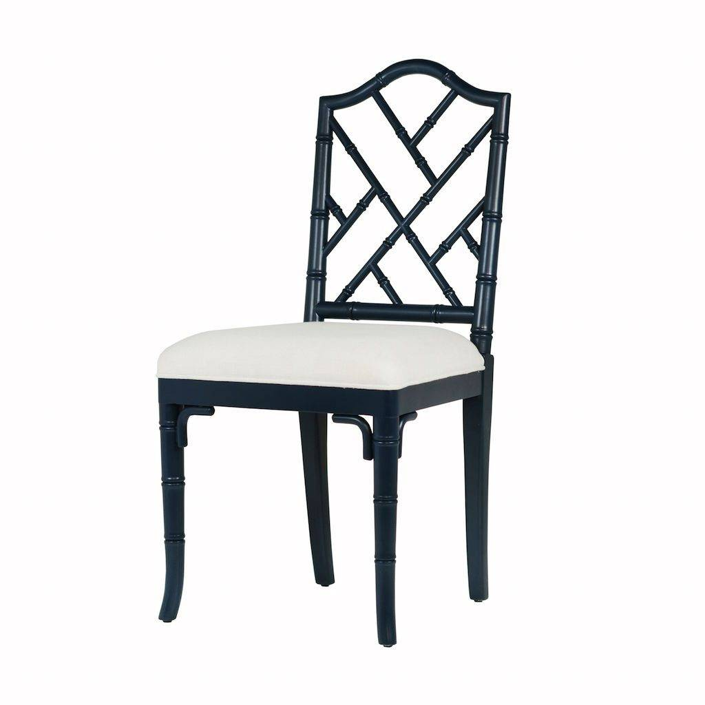 Worlds Away Fairfield Navy Lacquer Dining Chair by Worlds Away