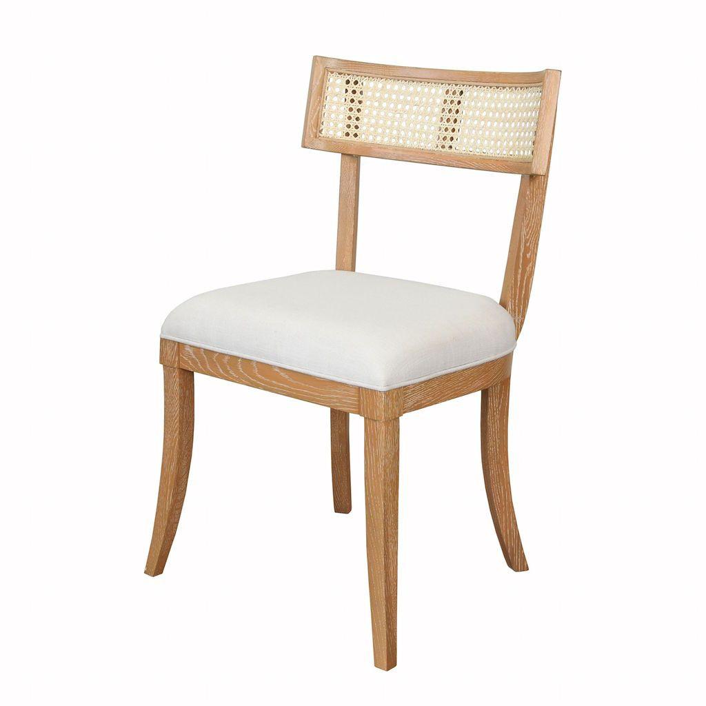 Worlds Away Britta Cerused Oak Klismos Dining Chair