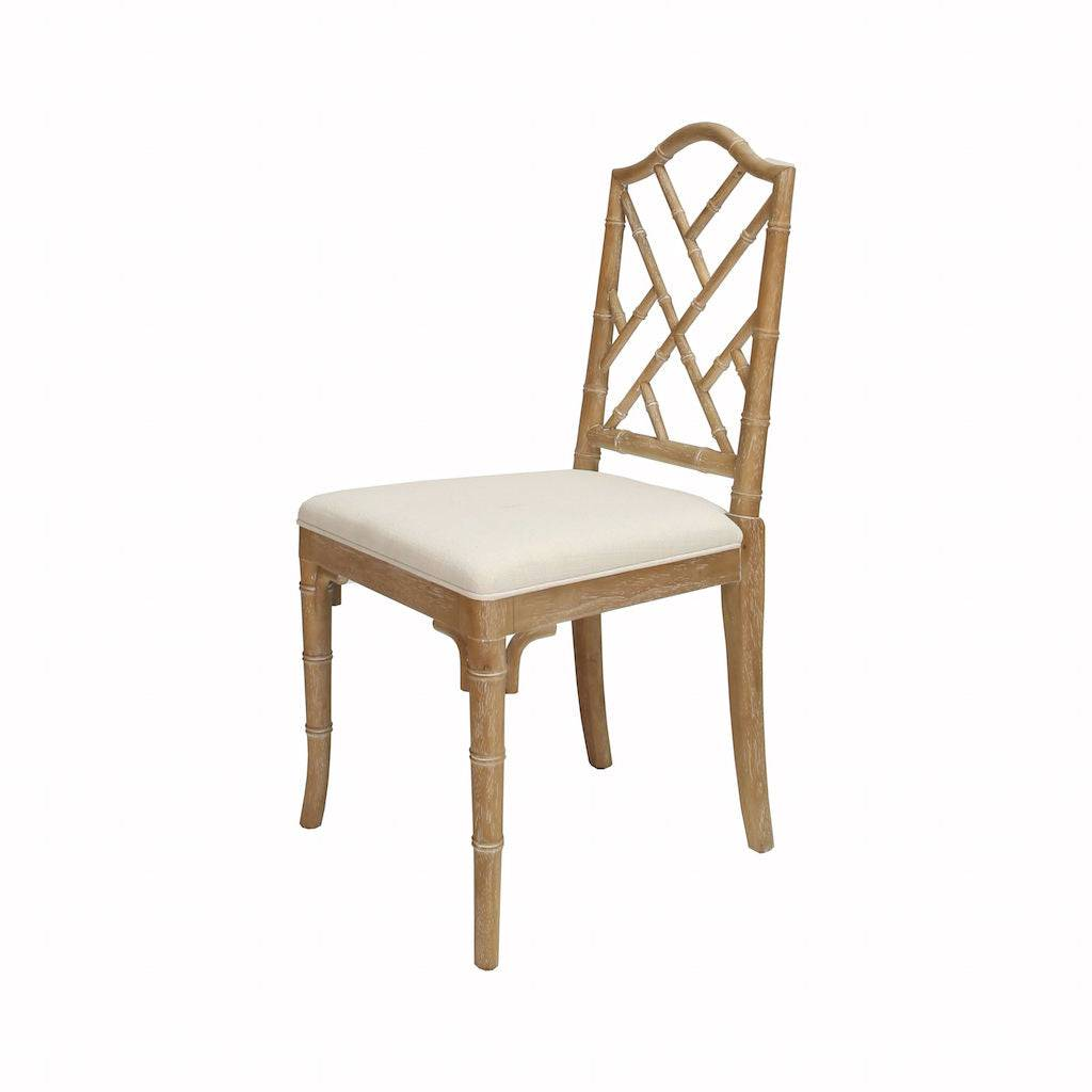 Worlds Away Fairfield Cerused Oak Dining Chair by Worlds Away