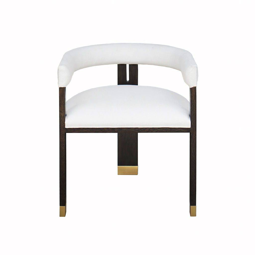 Worlds Away Jude Barrel Back Dining Chair by Worlds Away