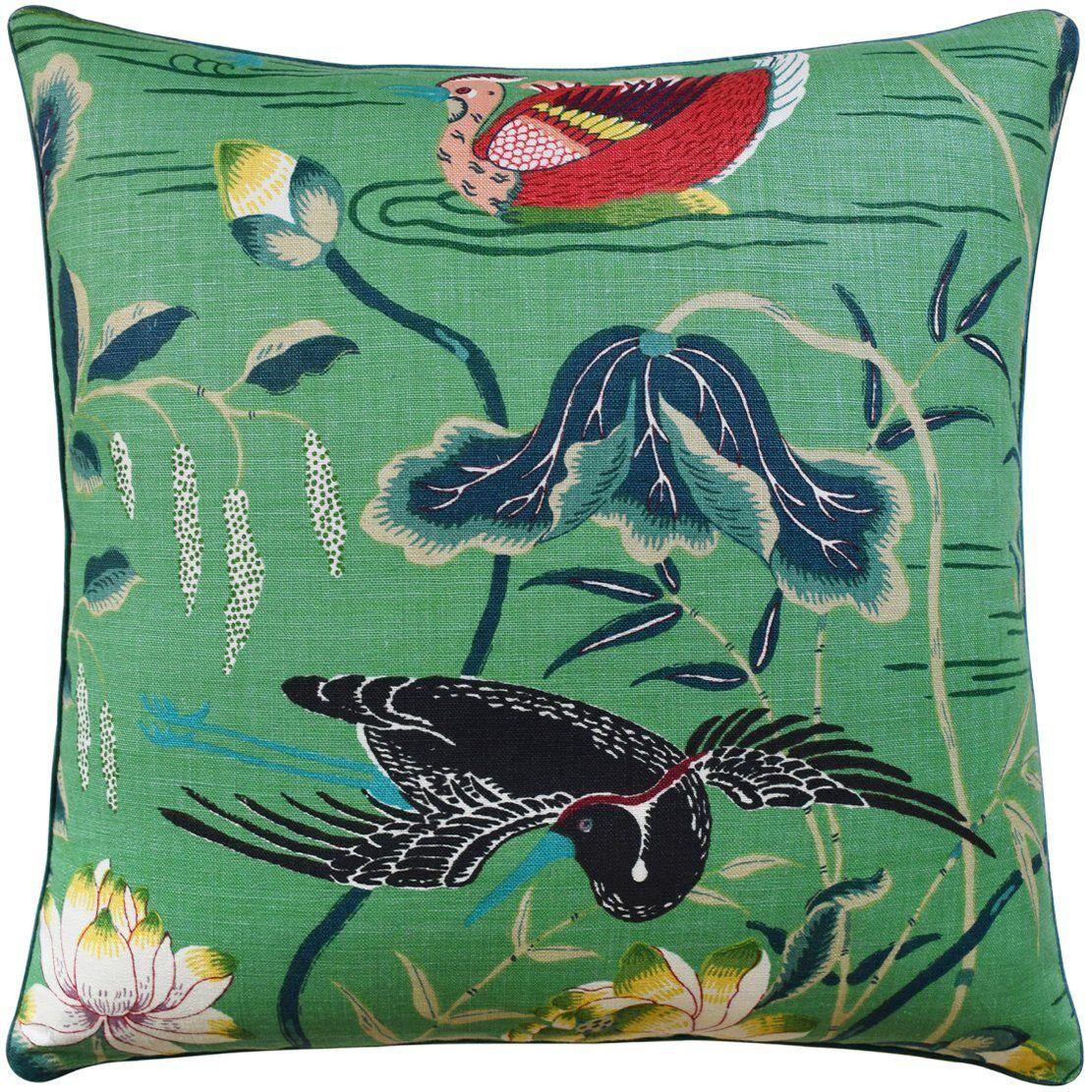 Ryan Studio Lotus Garden Jade Pillow